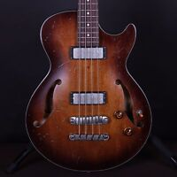 Ibanez Artcore AGBV200 Hollowody Tobacco Burst Electric Bass Guitar Serial #0524