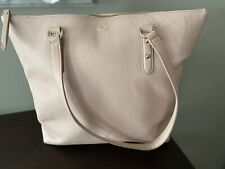 KATE SPADE Large Tote bag Purse Blush Pink With Zipper Leather