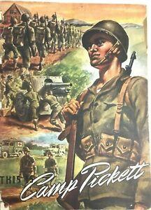 This Is Camp Pickett Booklet World War ll Virginia Nottoway County VA Souvenier