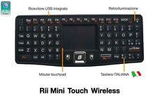 Rii Mini Touch Wireless - Tastiera retroilluminata per Smart TV Mini PC Console