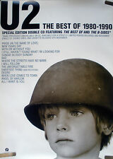 Rare U2 1980-1990 Best Hits 1998 Vintage Orig Music Record Store Promo Poster