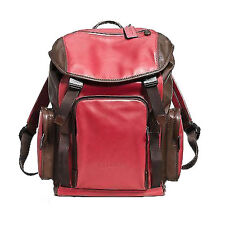 Coach Mens Sport Backpack Leather F71508 Brown Red Agsbeagle