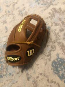 "Wilson A2000 A2014 9.5"" Baseball Training Glove Right Hand Throw"