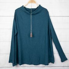 New Free People Jumper S (M 10) Cut Out Back Oversize Green Top Boho Gypsy A315
