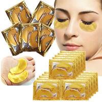 10xCrystal Collagen Gold Powder Eye Mask Augen Pad Anti Aging Feuchtigkeit Maske