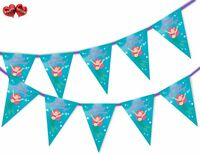 Lovely Mermaid Happy Birthday Themed Bunting Banner 15 flags by PARTY DECOR