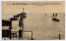 Zeebrugge, Belgium / Belge / Belgique WW1 Postcard CPA - Ship sunk in harbour