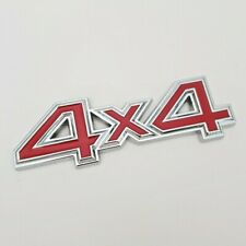 Red 4x4 Badge for Mazda Chrome Metal Emblem 4WD CX3 CX5 CX7 MX5 2 3 5 6 RX8 RX7