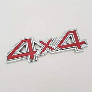 Rouge 4x4 Badge Pour Land Rover Métal Chrome Emblème 4WD Range Freelander