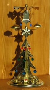 Ringing Christmas Tree Angel Chimes_Gold with 4 Candles