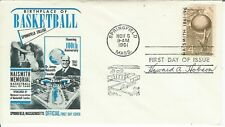 Basketball Hall Fame 1961 FDC Signed Howard Hobson University Oregon Coach Yale