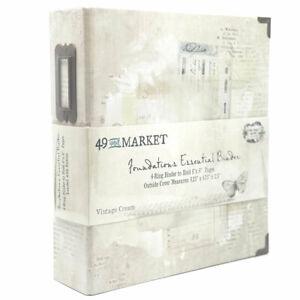 NEW 49 and Market, Foundations Essential Binder - Vintage Cream