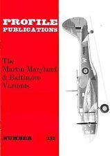 MARTIN MARYLAND & BALTIMORE VARIANTS: PROFILE PUBS #232/ NEW PRINT FACSIMILE ED