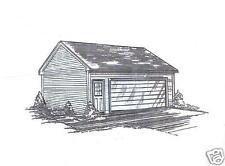 26 x 22 2-Car LD Garage Building Plans SD / Interior Vaulted Ceiling