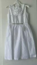 Marie Amelie Holy Communion, Bridesmaid, Wedding Jewels Dress White + Bag Age 10