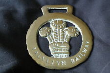 Talylynn Railway vintage horse brass plaque