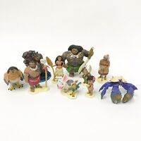 Disney Moana Action Figures Toy Lot 19 Figures PVC Playset Cake Topper Decor