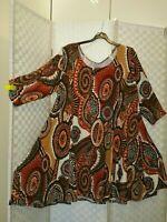 magna Kleid Tunika 56/58 Kreise Muster stretchig NEU Länge 100 cm