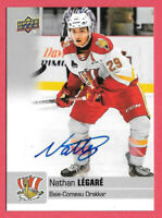 2019-20 Nathan Legare Upper Deck CHL Rookie Auto - Pittsburgh Penguins