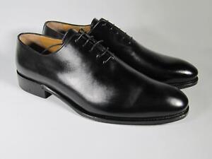 A.Testoni Men Black Oxford Piuma shoes  9.5 US (8.5 UK) NEW