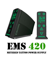 EIKON EMS 420 Metered Power Supply for Coil & Rotary Tattoo Machines with Cord