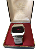 LED Watch. 1970's Vintage LED Marcel Watch. With Box.