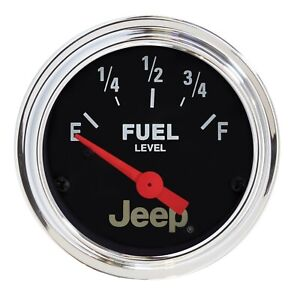 "Auto Meter For Jeep 2-1/16"" Air Core Fuel Level Gauge 0-90 ohm - 880243"
