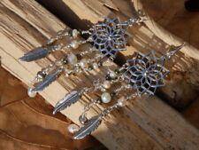 Freshwater Pearl Mandala Earrings Fine Sterling Silver New Jewelry Free Shipping