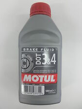MOTUL DOT 3&4 BRAKE FLUID LIQUIDO OLIO FLUIDO FRENI FRENO 100% SINTETICO ml 500