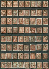 Great Britain #3 Group of 128 One Penny w/Numeral Cxls