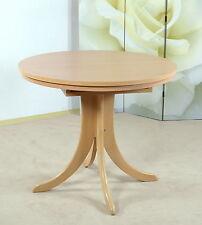 Auszugtisch rund Buche natur massiv Esstisch Esszimmertisch Tisch Küchentisch