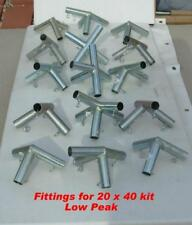 20x40 + Canopy Car + Tent Fittings (connectors) Only + 15 Foot Pads Tent4all