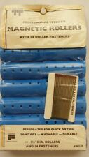 Vintage Hair Rollers! Magnetic! Jumbo! With Pins! Unique old hard to find Item!