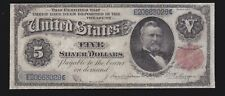 US 1891 $5 Grant Silver Certificate FR 267 F-VF (028)