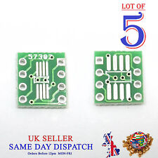 5x PCB SO MSOP TSSOP SIO6 SOP8 to DIP-8 1.27 / 0.65mm Adapter SMD Converter
