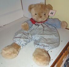 "Pacifix Tan 25"" Teddy Bear Plush Stuffed Animal Pajama Bag Blue Stripe Buddies"