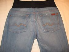 7 for all Mankind Maternity Jeans Sz 30 or M Bootcut Distressed w Stretch
