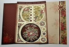 Hunkydory 3 Poinsettia Bloom Christmas Toppers & Card Kit
