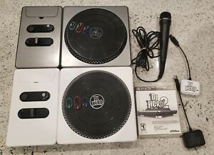 Sony PlayStation 3 PS3 DJ Hero 2 Party Bundle Turntable Set 2 Dongles Microphone