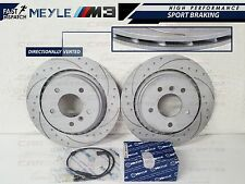 BMW E36 M3 EVO REAR DIMPLED AND GROOVED BRAKE DISC DISCS MEYLE PADS WEAR SENSOR