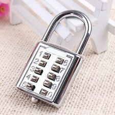 8 Digit Combination Code Padlock Travel Suitcase Luggage Security Password Lock
