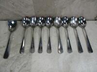 Supreme Cutlery Towle TWS 28 Stainless Flatware Japan 8 Teaspoons 1 Sugar Spoon