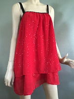 BNWT Womens Sz 26 Autograph Brand Scarlet Red Sequin Detail After 5 Top RRP $90