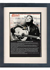 Johnny Cash. High quality framed print and clock. Music memorabilia.