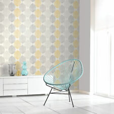 Scandi Leaf Yellow Ochre Grey Glitter Feature Wallpaper Opera Arthouse 698401 A4 Sample