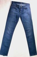 7 For All Mankind Jeans Women's Roxanne Straight Leg Med Wash Blue Denim 26 x 32