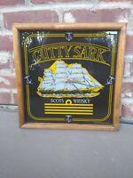 RARE Cutty Sark Works Scotch Whiskey Framed Wall Clock