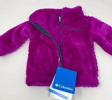 Columbia Girls Fire Side Sherpa Full Zip Fluffy Fleece Bright Plum Nocturnal 3-6