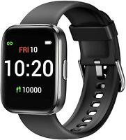 Smart Watch Compatible wit ios android,Fitness Tracker with Blood Oxygen (Black)