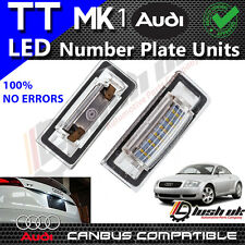 x2pc Audi TT Mk1 8N 1999-2006 LED License Number Plate Light Error Free Units